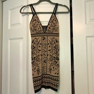 Free People Intimately Dress - tan and black